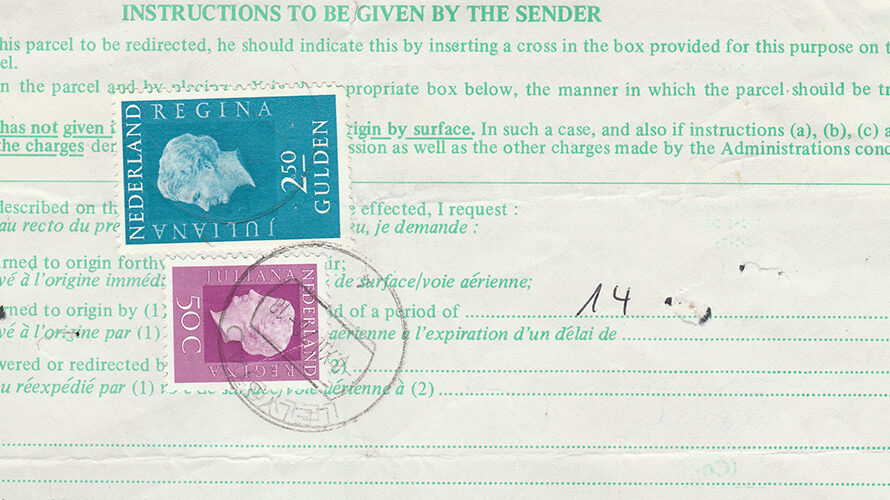 Stamps used to pay services