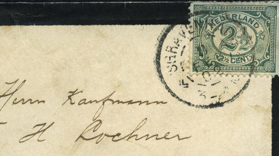 Social philately: mourning calling card of Paul Kruger