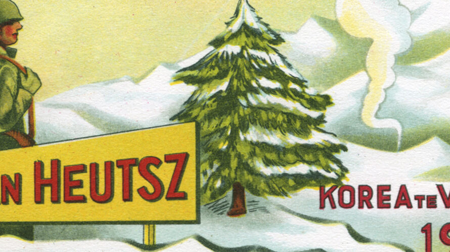 Korean war 1952 Christmas card of Dutch detachment