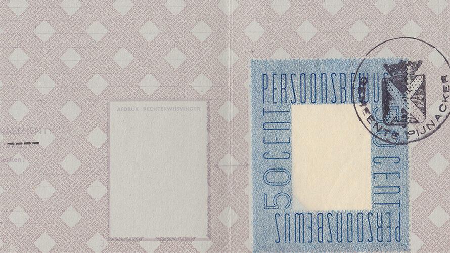 War time identity card