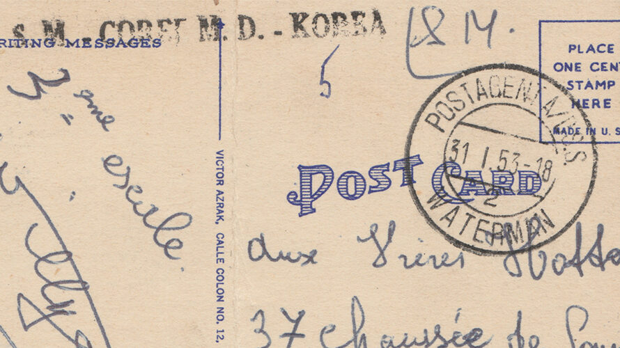 Military Mail from Belgian UN-troops during the Korean War