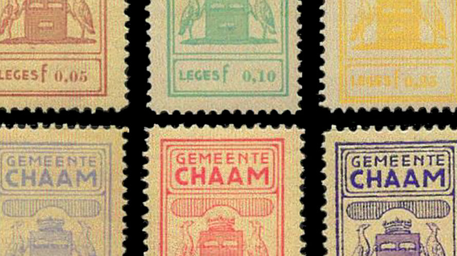 Municipal revenue stamps: Alphen-Chaam / Chaam / Alphen en Riel
